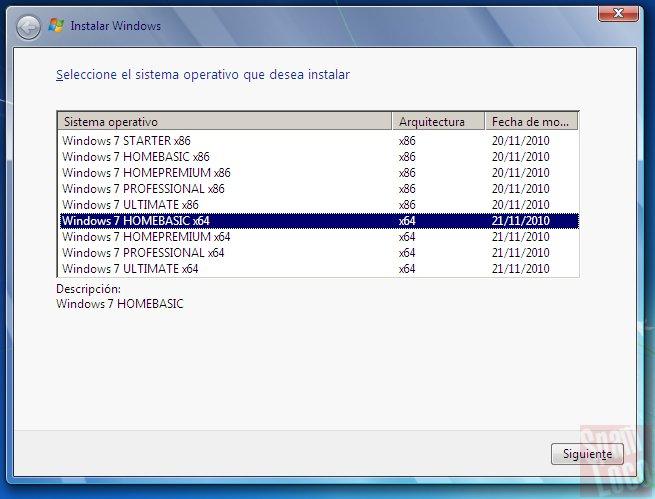 todas las versiones 32 y 64 bits en mismo dvd de windows