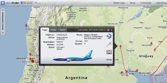 7e1a837659 Ver aviones en vivo con Google Maps y Google Earth