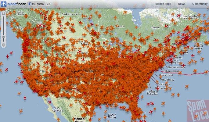 aviones sobre estados unidos