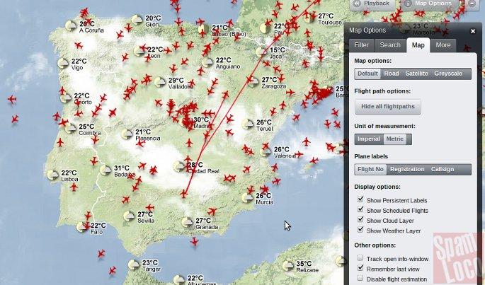aviones sobre espana