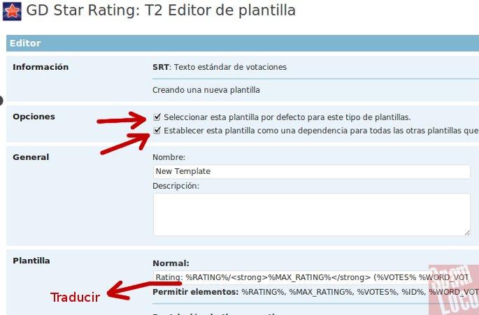 plantilla GD Star Rating