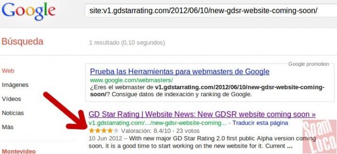estrellas en google con plugin wordpress