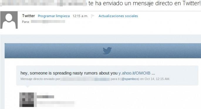 mensaje directo twitter phishing