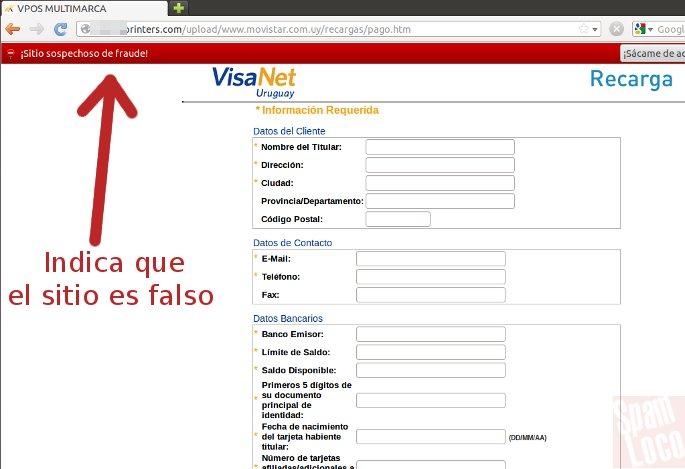 phishing movistar solicitud de datos
