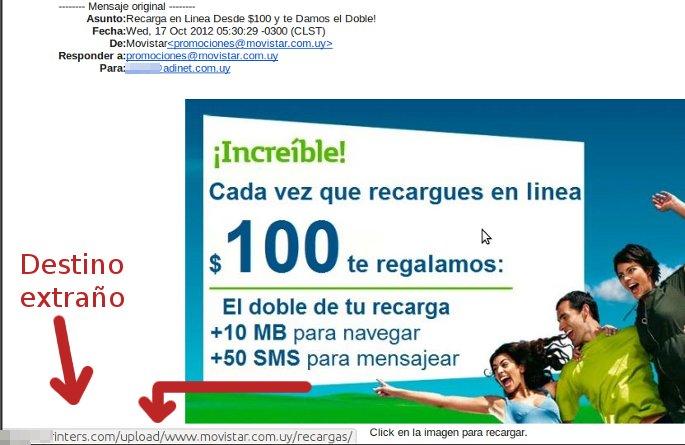 phishing movistar uruguay