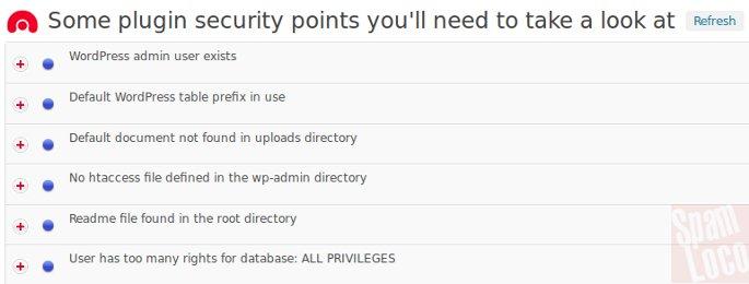 alertas del plugin WordPress Security