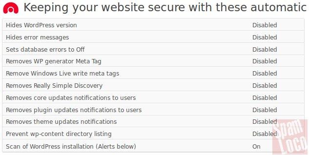 plugin WebsiteDefender WordPress Security