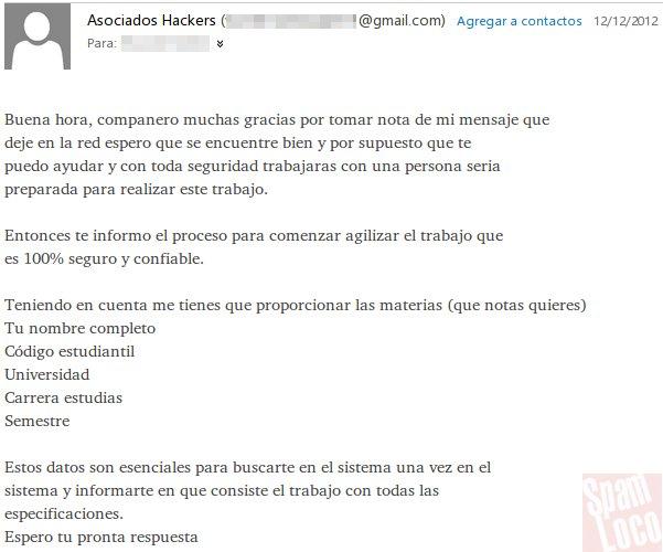 respuesta estafador asociados hackers