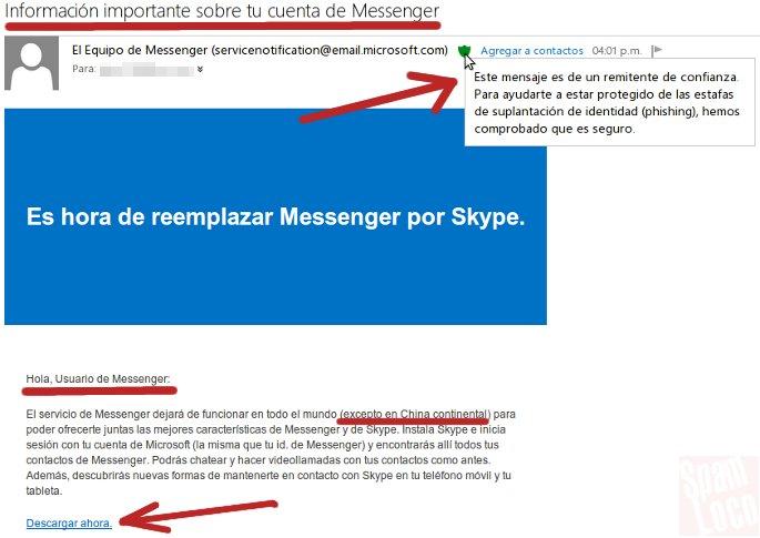 aviso microsoft cambio de messenger por skype