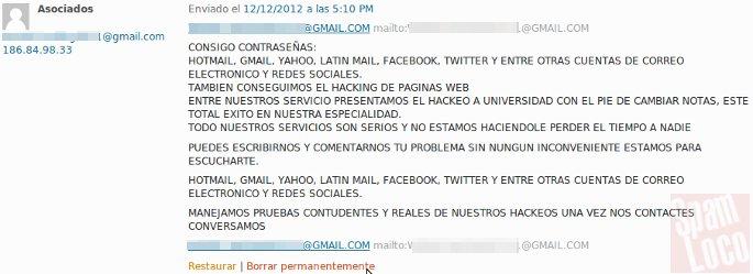 comentario hacker asociados