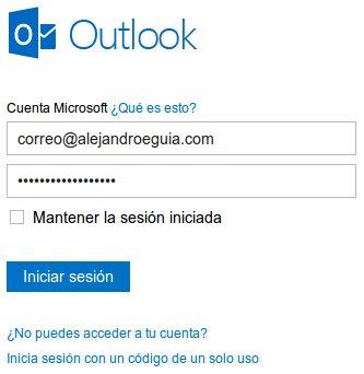accediendo correo personalizado con dominio