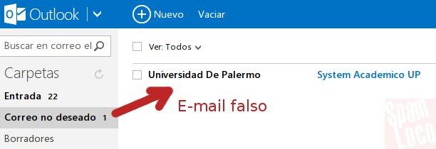 e-mail falso hacker universidad