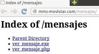 index of movistar mms