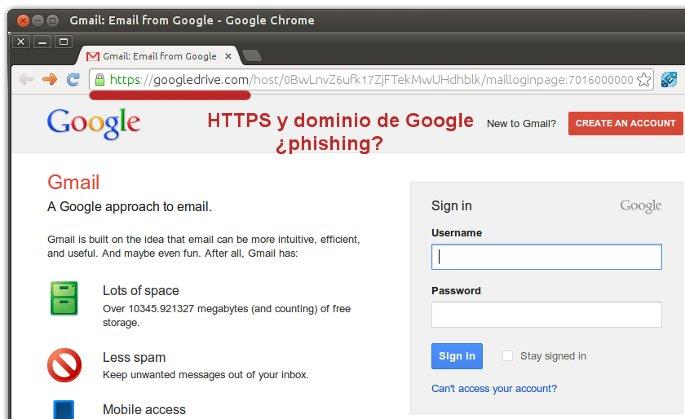 phishing con google drive