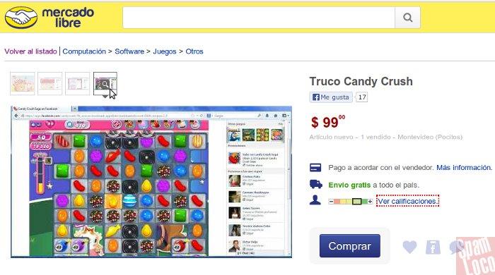 trucos para candy crush en mercado libre