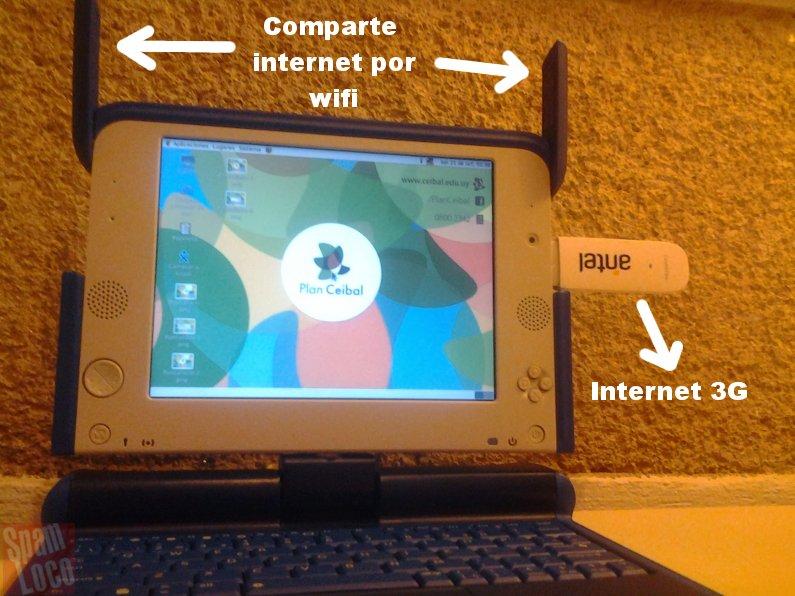 Compartir internet 3G por WiFi en las XO (también sirve para Ubuntu)