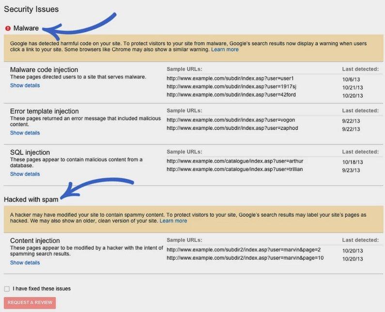 problemas de seguridad en las herramientas para webmasters de google