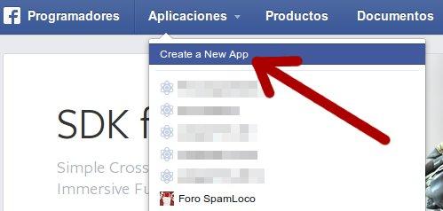 crear aplicación en facebook