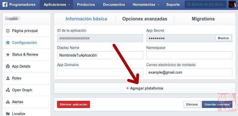 configurarion aplicacion para moderar comentarios en facebook