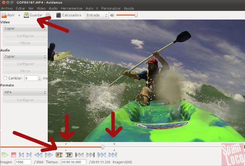 cortando video con avidemux en ubuntu