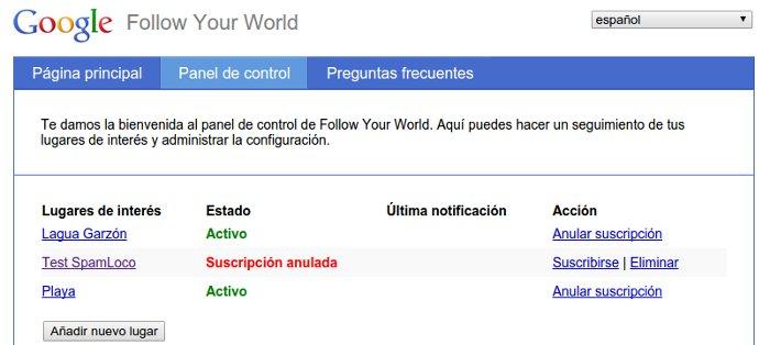 Follow Your World de Google