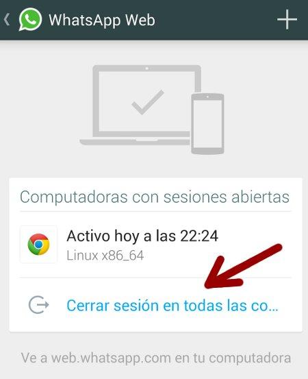 sesion whatsapp cerrar