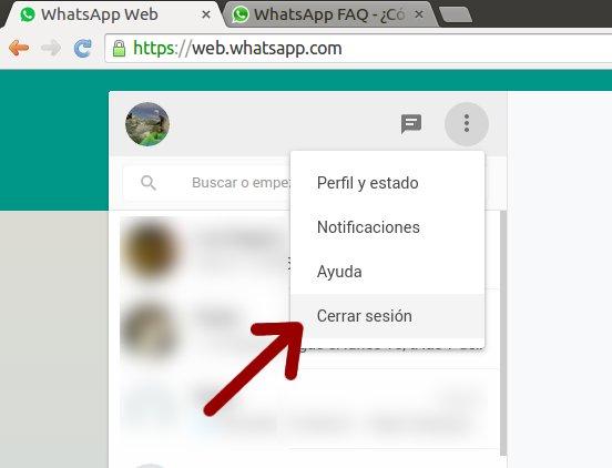 cerrar sesion whatsapp web