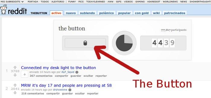 El boton de reddit