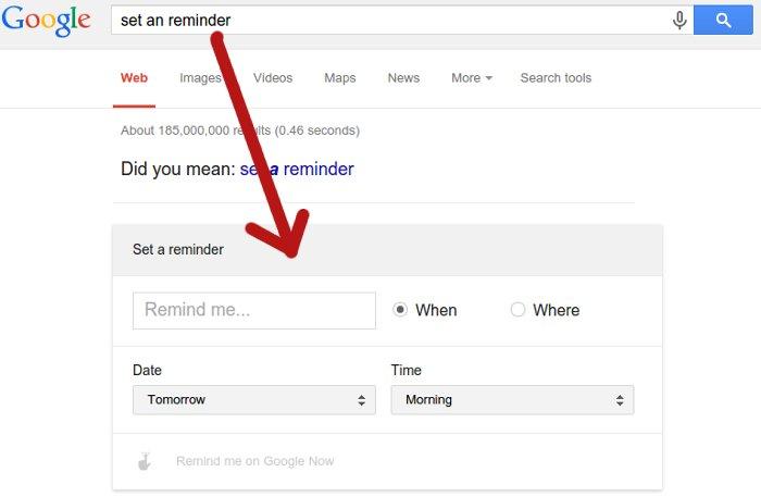 configurando recordatorio en el celular desde google