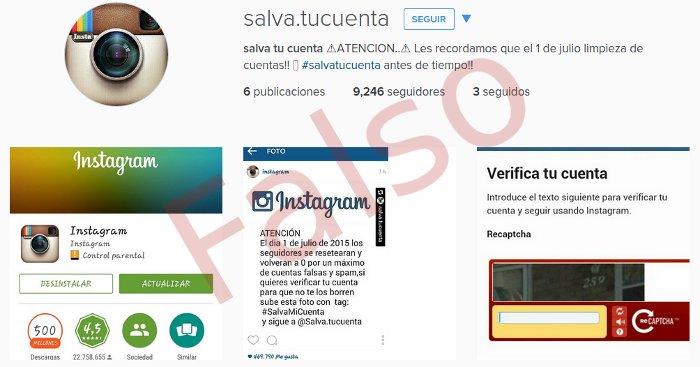 cuenta spam en instagram