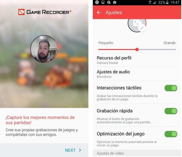 aplicacion Game Recorder