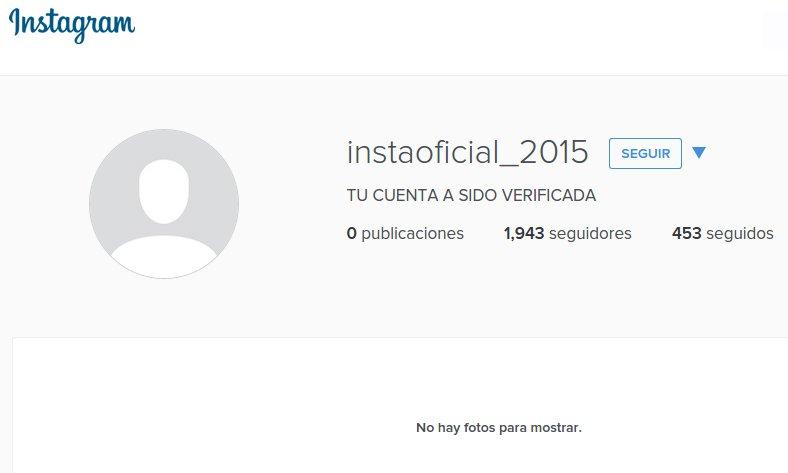 perfil spam en la red social instagram
