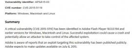 boletin de flash sobre 0-day hacked team