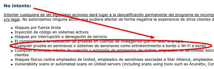 united politica bugs del wifi a bordo