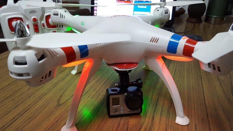 drone barato con go pro