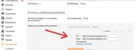 redirecciones personalizadas en blogger
