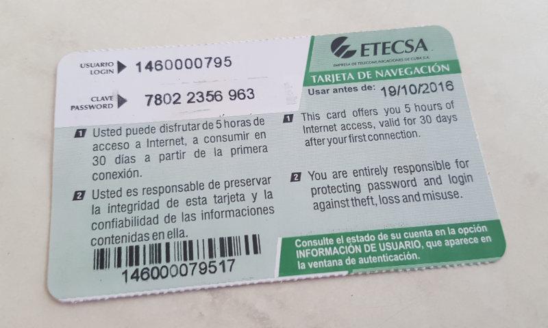 tarjeta de internet etecsa