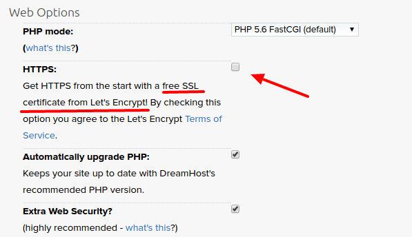 dreamhost ssl gratis