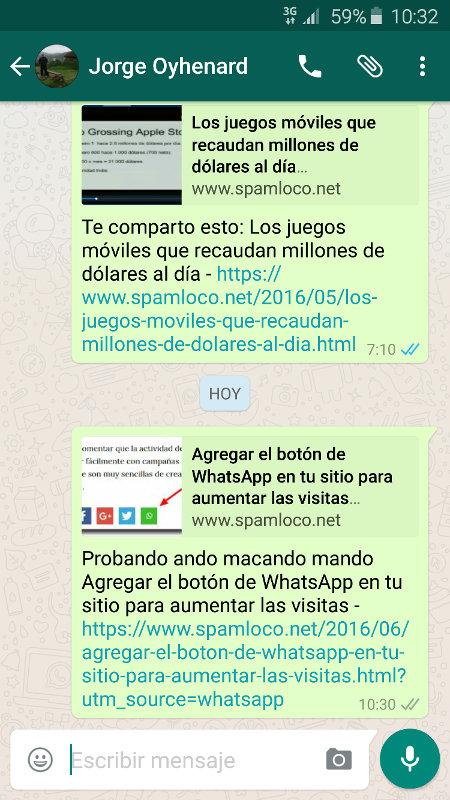 whatsapp boton de compartir