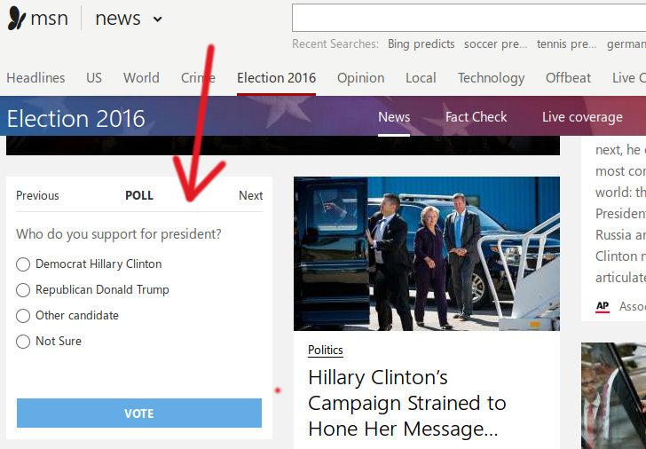 encuesta MSN para Bind Predicts