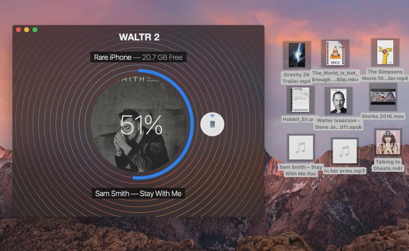 waltr 2 transferencia de archivos