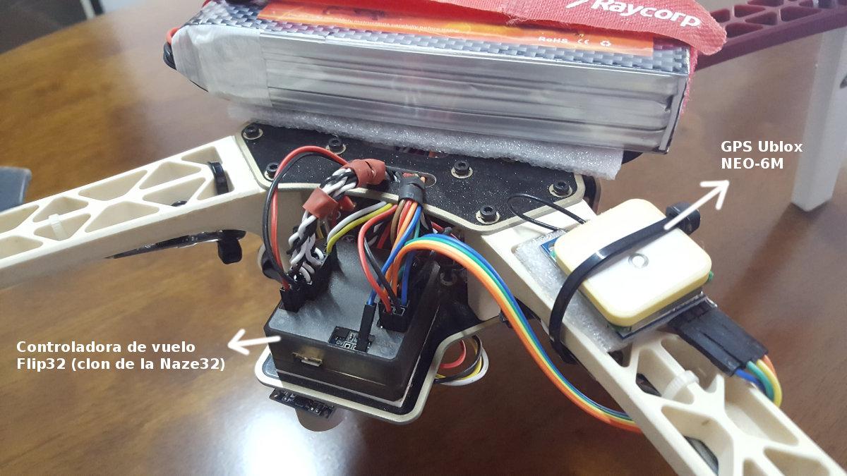 controladora de vuelo en drone casero