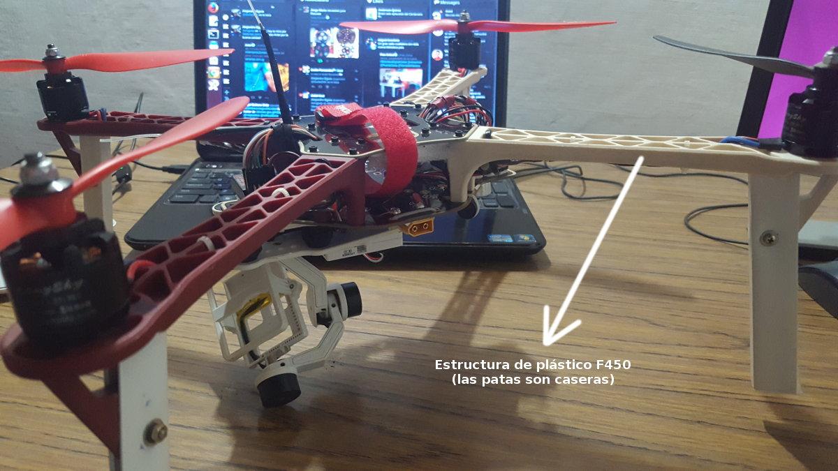 estructura de plastico drone f450