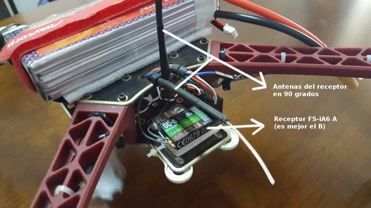 receptor del drone y antenas