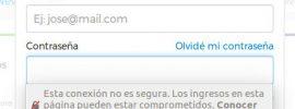 contraseña en Firefox con http